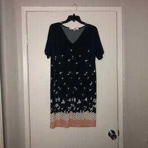 Short Navy Blue Dress